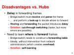 disadvantages vs hubs