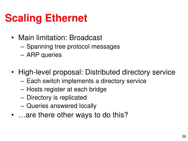 Scaling Ethernet