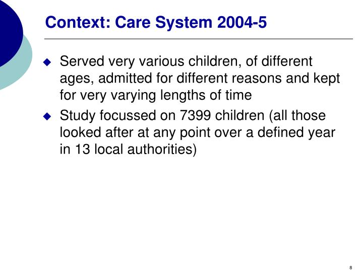 Context: Care System 2004-5