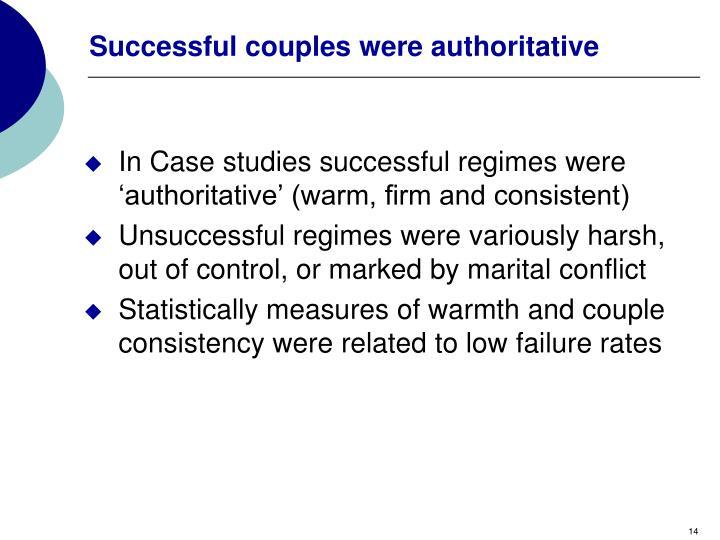 Successful couples were authoritative