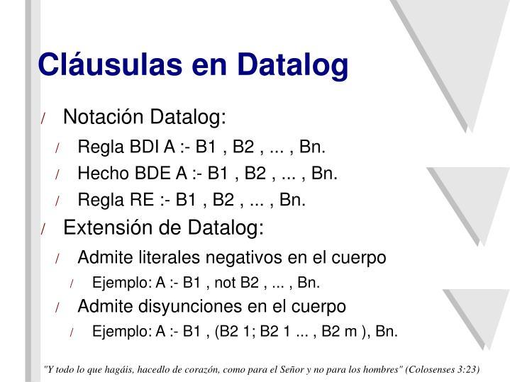 Cláusulas en Datalog