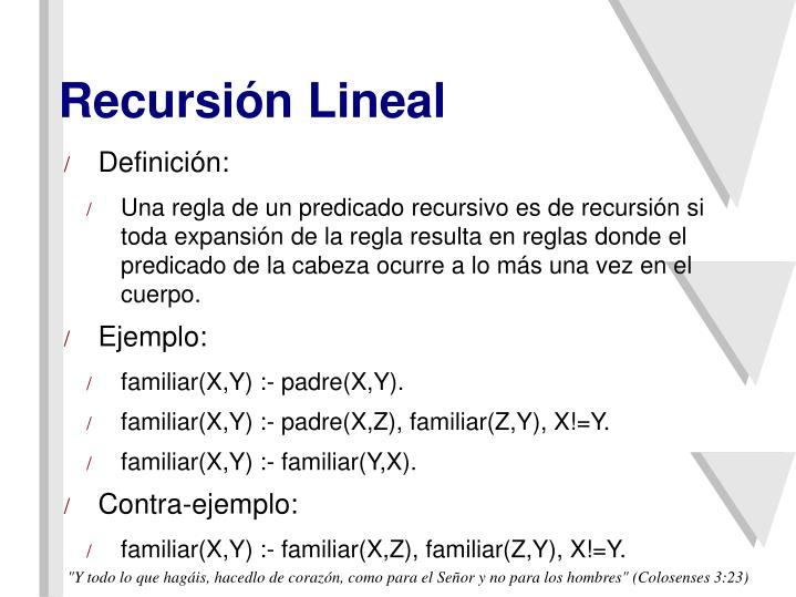 Recursión Lineal