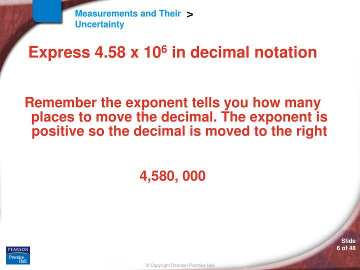 Express 4.58 x 10