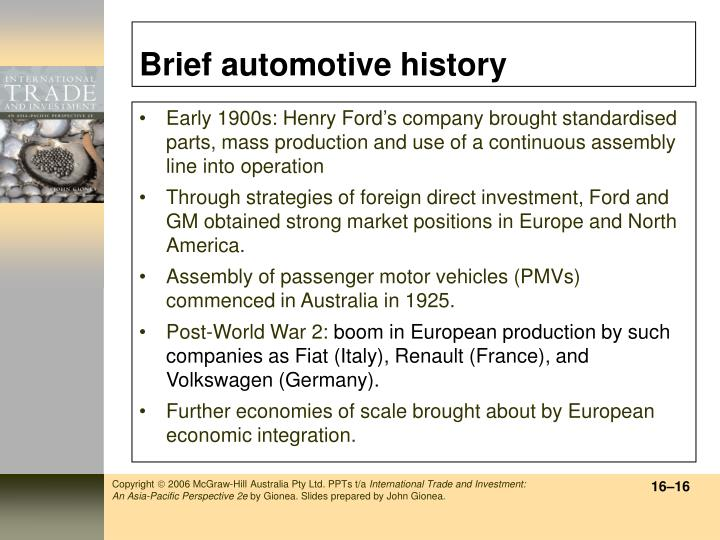 Brief automotive history