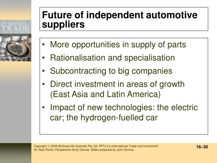 Future of independent automotive suppliers