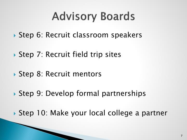 Advisory Boards