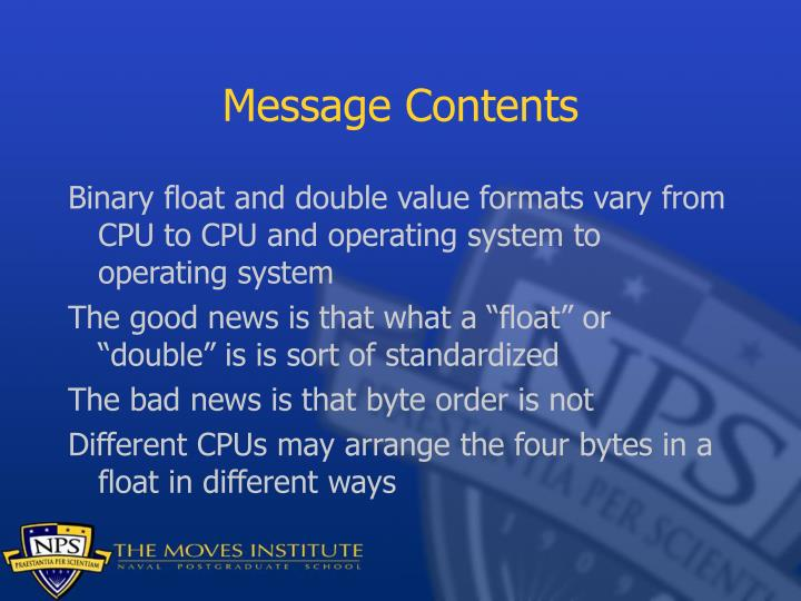 Message Contents