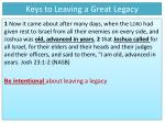 keys to leaving a great legacy1