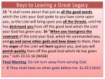 keys to leaving a great legacy12