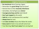 legacy summary