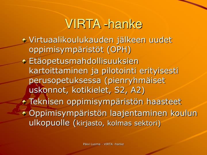 VIRTA -hanke