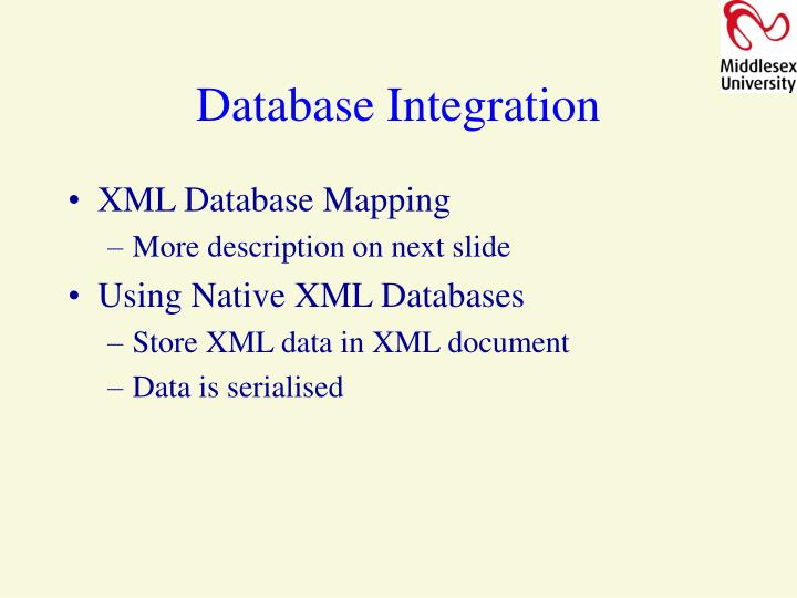 Database Integration