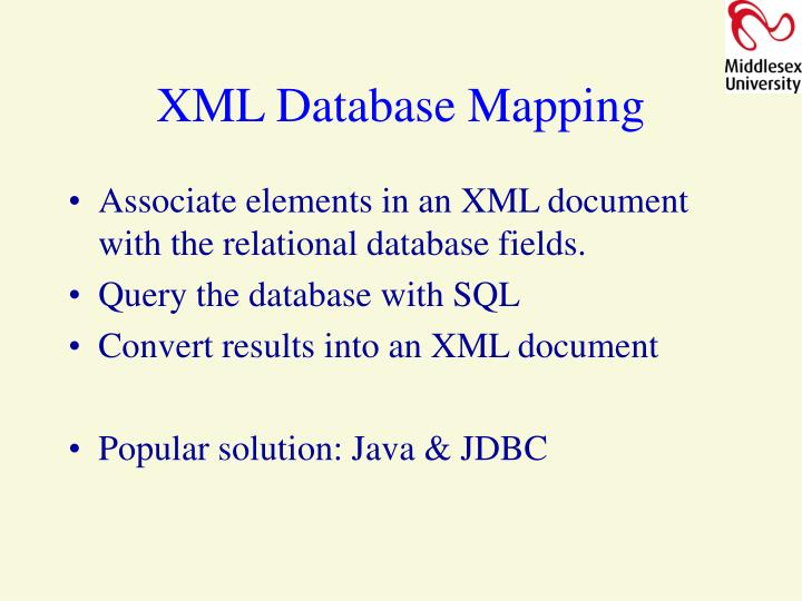 XML Database Mapping