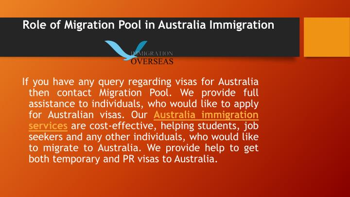 Role of Migration Pool in Australia