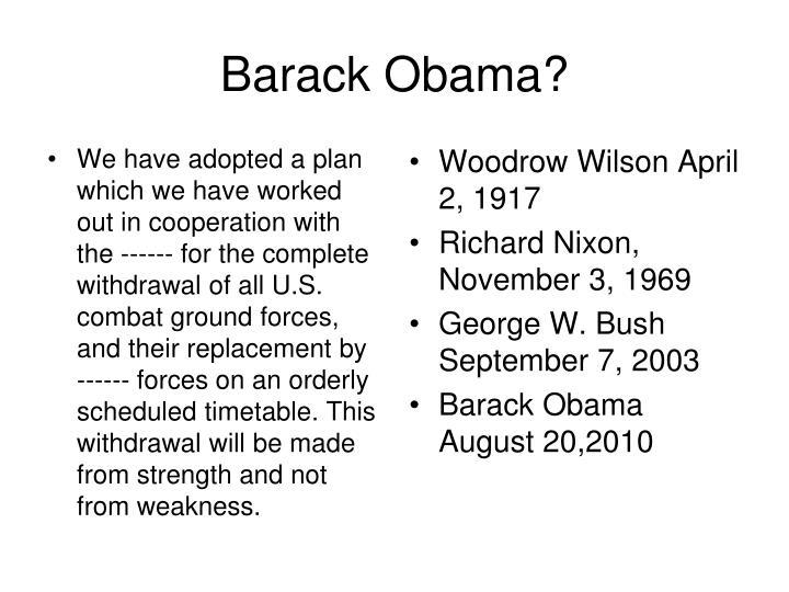 Barack Obama?