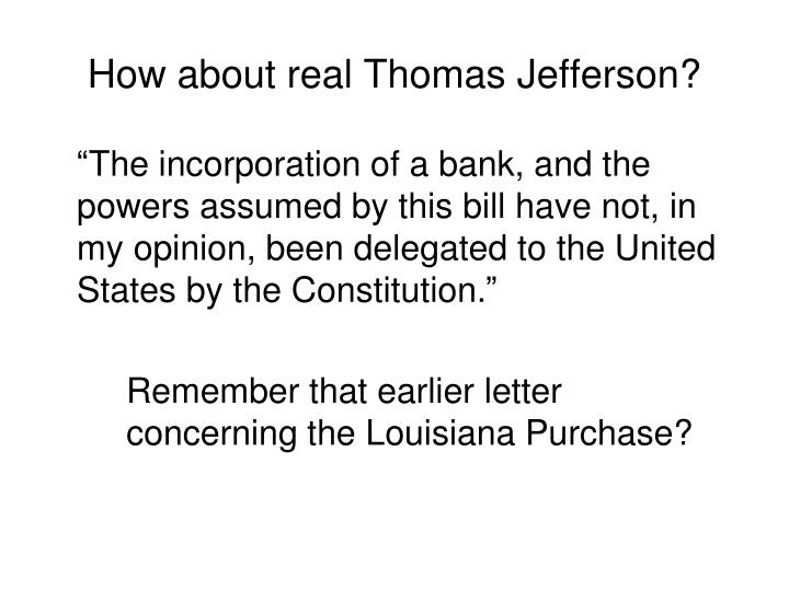 How about real Thomas Jefferson?
