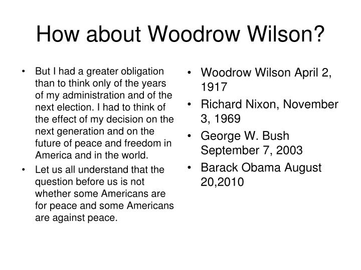 How about Woodrow Wilson?