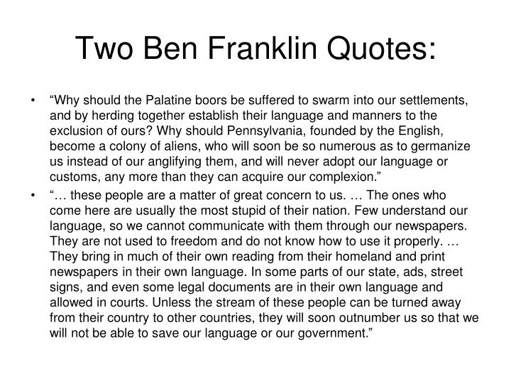 Two Ben Franklin Quotes: