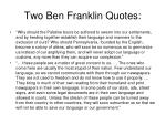 two ben franklin quotes