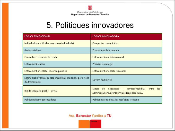 5. Polítiques innovadores