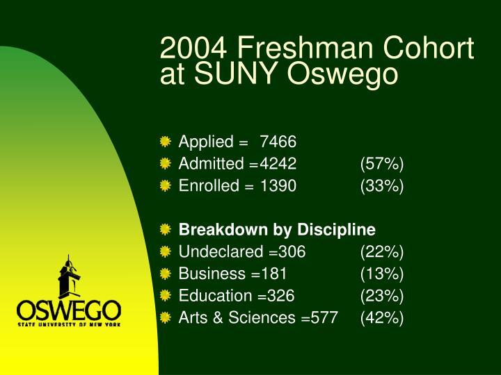 2004 Freshman Cohort at SUNY Oswego