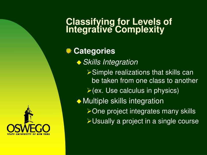 Classifying for Levels of Integrative Complexity
