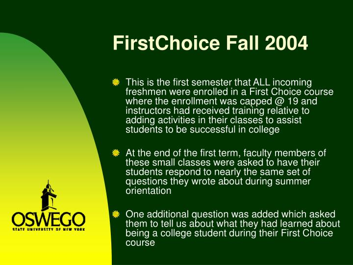 FirstChoice Fall 2004