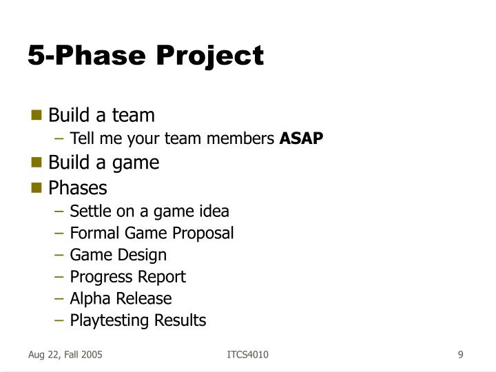 5-Phase Project