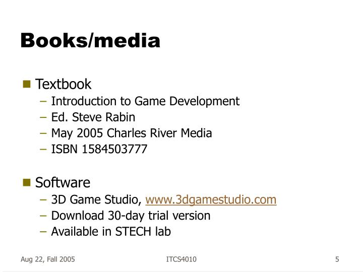 Books/media