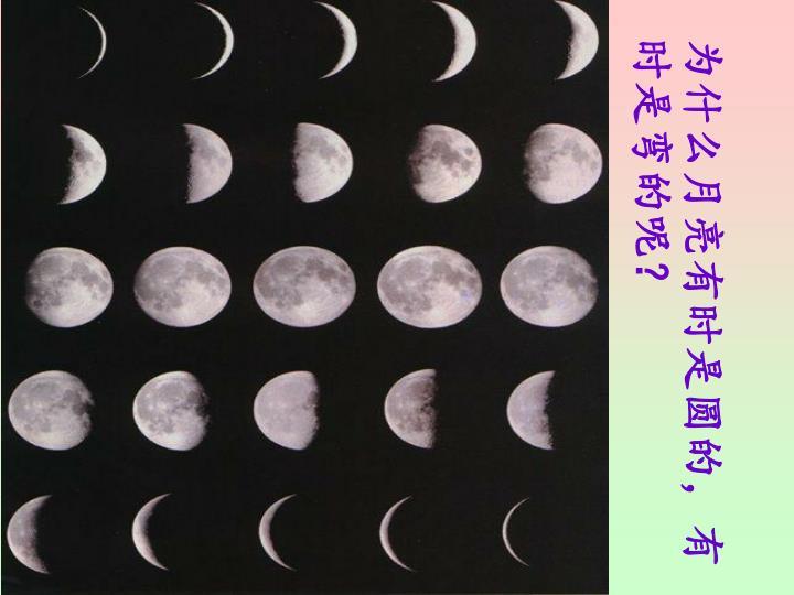 为什么月亮有时是圆的,有时是弯的呢?