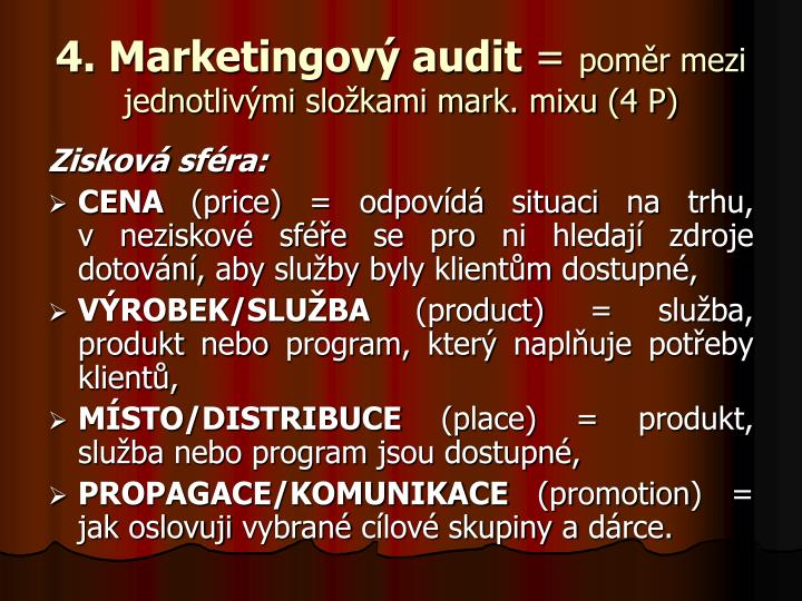 4. Marketingový audit