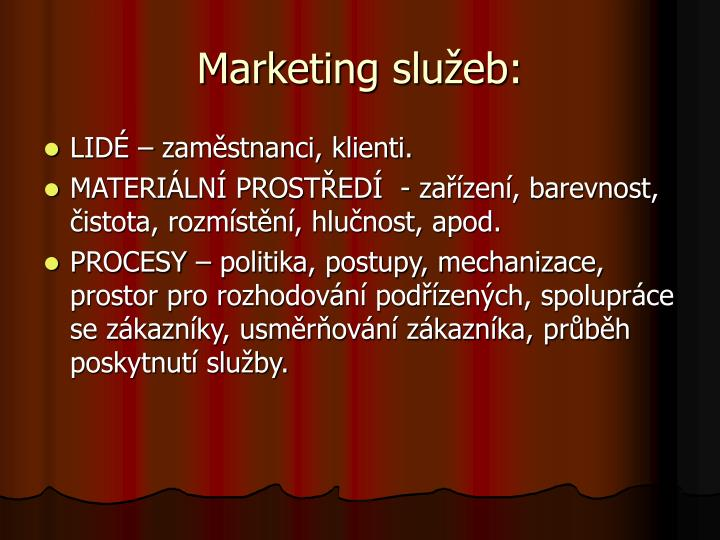 Marketing služeb: