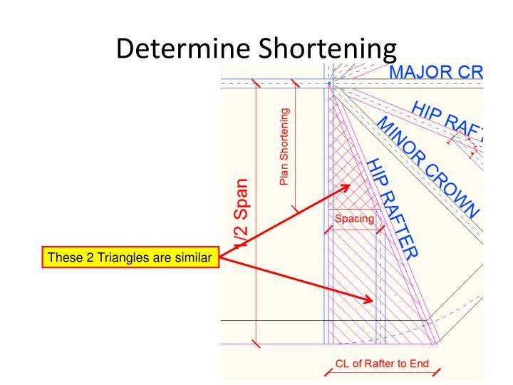 Determine Shortening