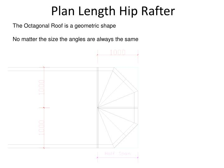 Plan Length Hip Rafter