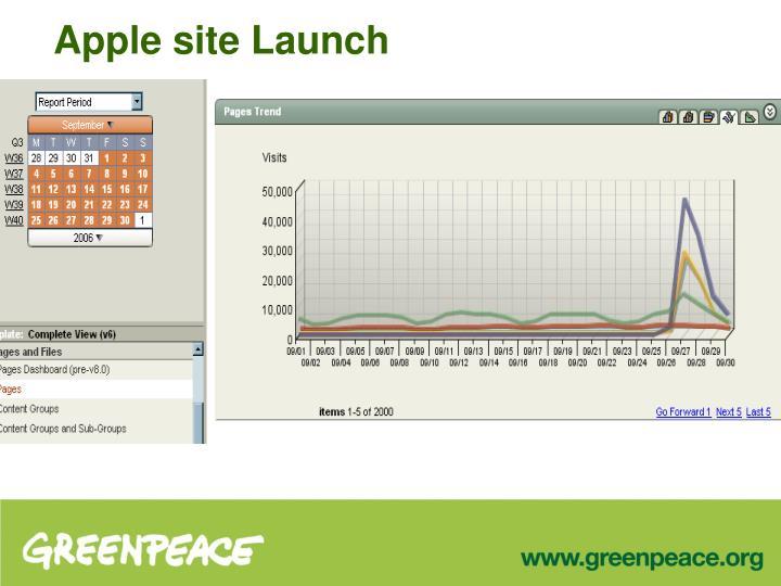 Apple site Launch