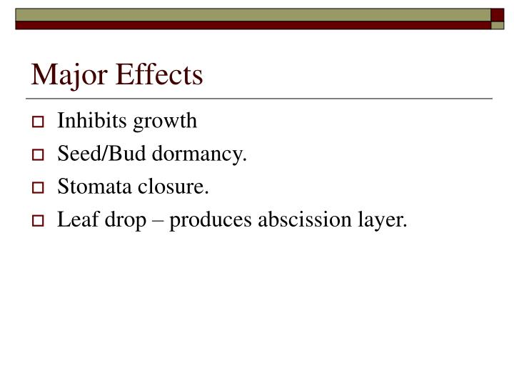 Major Effects