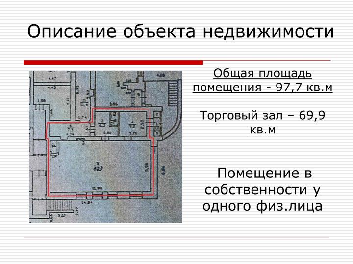 Описание объекта недвижимости