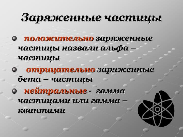 Заряженные частицы