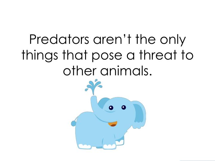 Predators aren't the only things that pose a threat to other animals.
