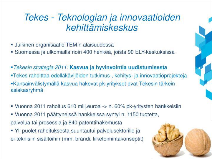 Tekes - Teknologian ja innovaatioiden kehittämiskeskus