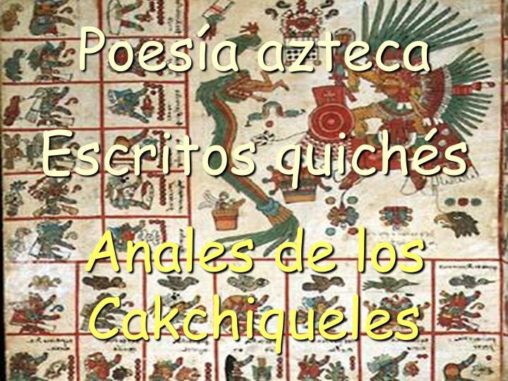 Poesía azteca