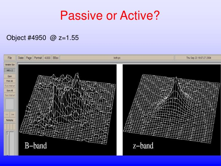 Passive or Active?