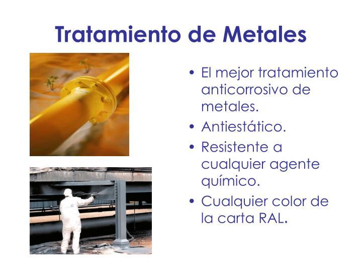 Tratamiento de Metales