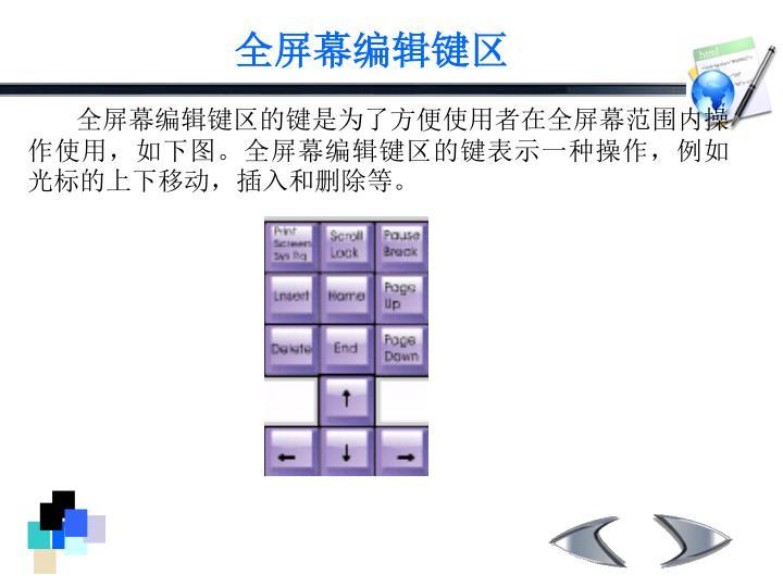 全屏幕编辑键区