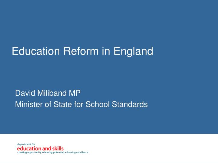 Education reform in england
