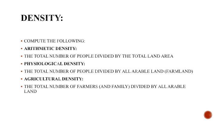 Density: