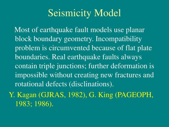 Seismicity Model