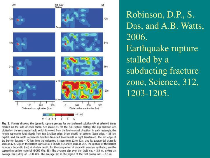 Robinson, D.P., S. Das, and A.B. Watts, 2006.