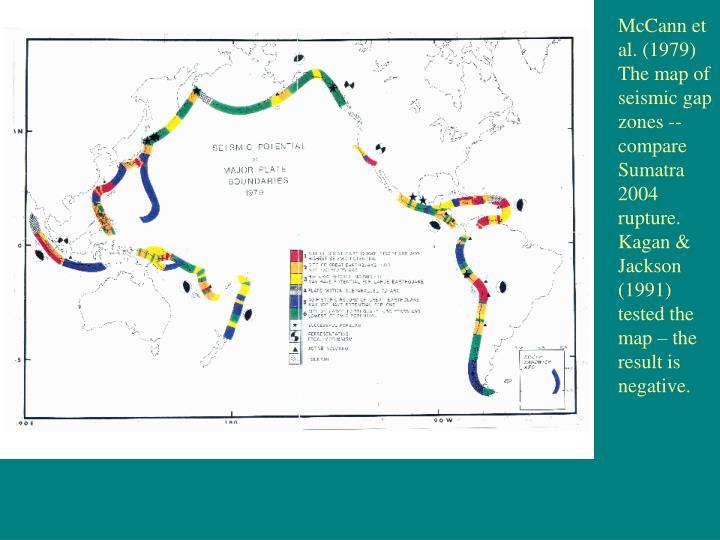 McCann et al. (1979) The map of seismic gap zones -- compare Sumatra 2004 rupture.