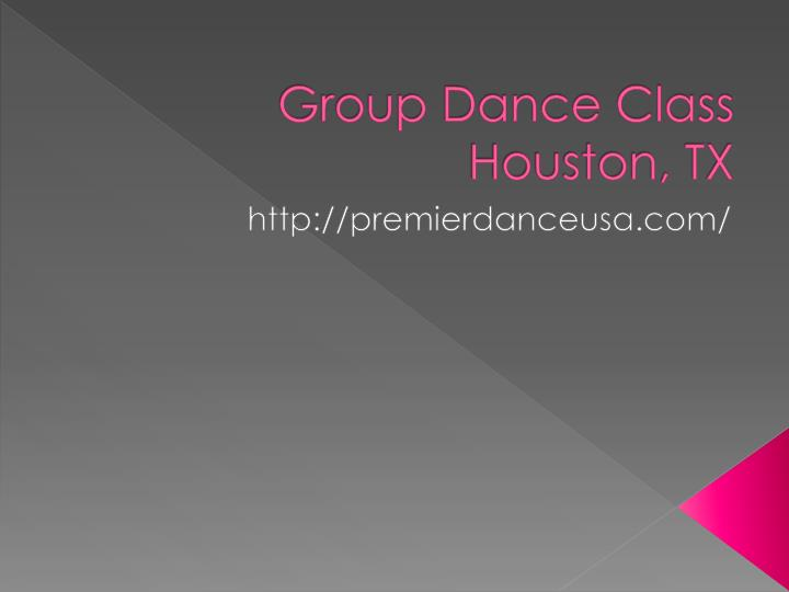 Group dance class houston tx